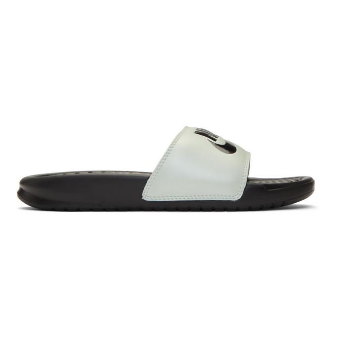 c89742259 Nike White And Black Benassi Jdi Slides In 008 Spruce