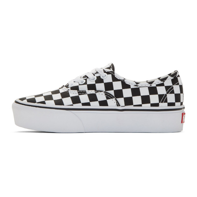 0fac32fe6bb Vans Black And White Checkerboard Ua Authentic Platform 2.0 Sneakers In Check  Blk W