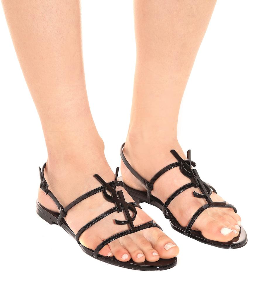 0c65792abe Strappy Sandals Cassandra Patent Leather Logo Black