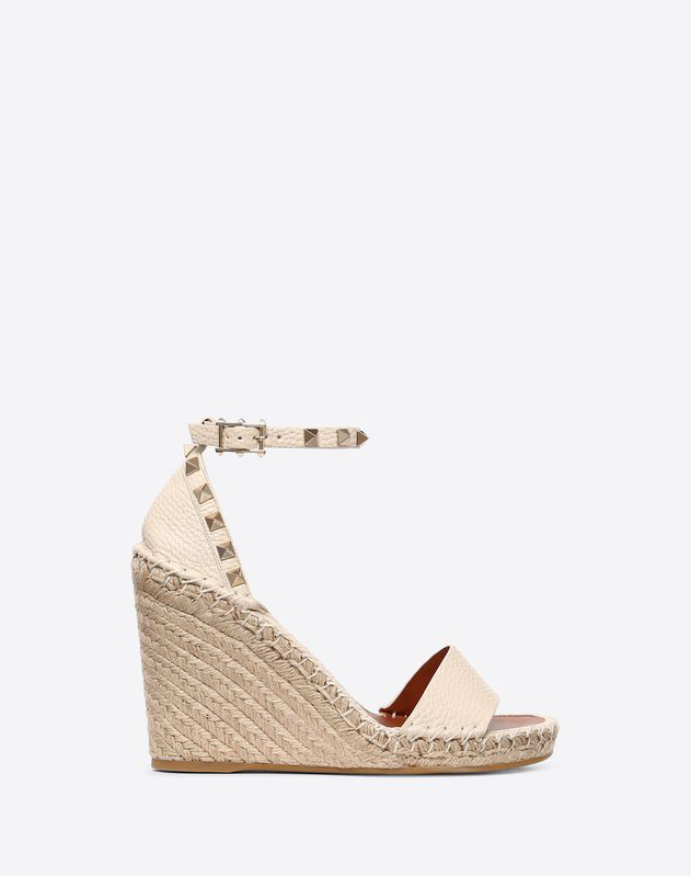 6753f2b45e8 Valentino Rockstud Double Espadrille Wedge Sandals