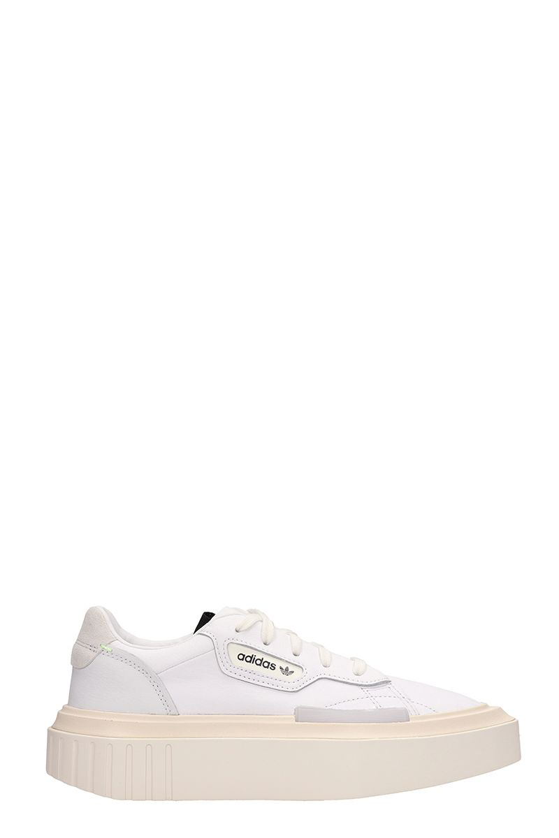 540d47cdd Adidas Originals Hypersleek W White Leather Sneakers | ModeSens
