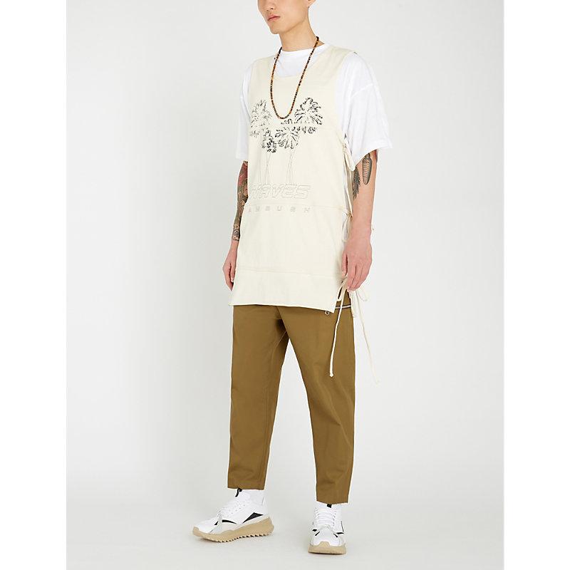 ee37ee3c96e6ce Ambush Logo-Print Cotton-Jersey Vest In Beige