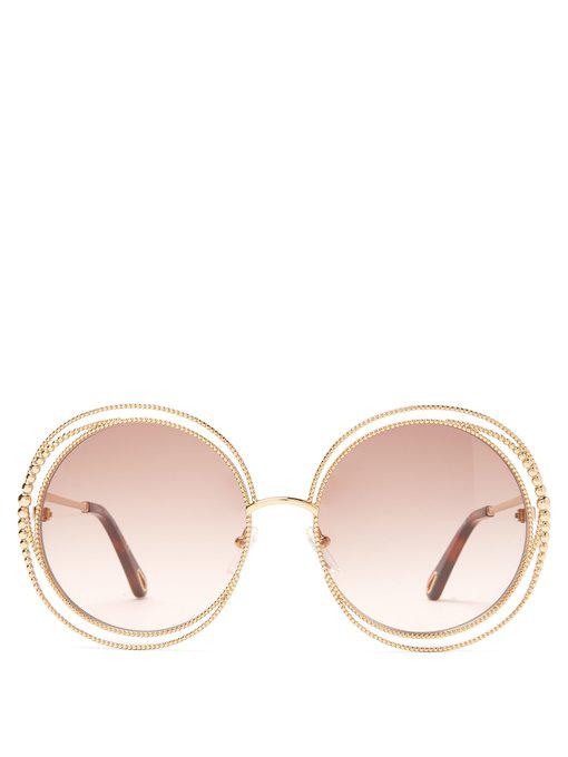f805bfb08f68 ChloÉ Carlina Round-Frame Sunglasses In Light Brown