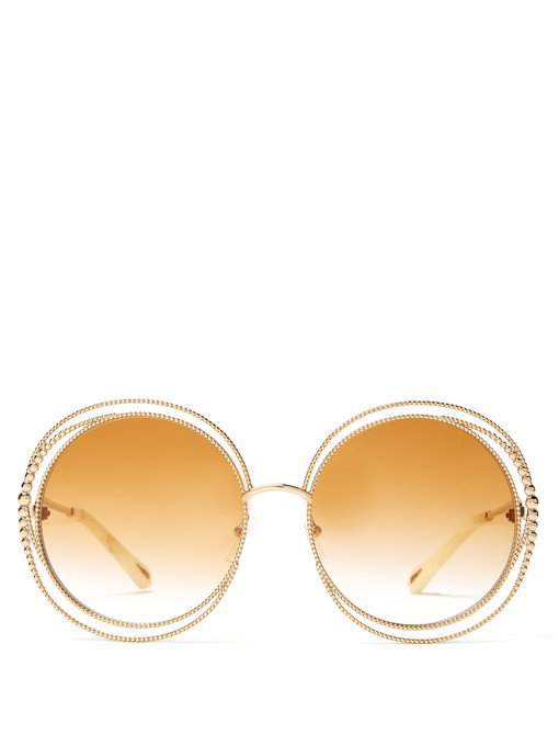 e83234788892 ChloÉ Women's Carlina Oversized Round Sunglasses, 58Mm In Gold ...