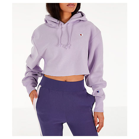 1c7dc2ab9 Champion Reverse Weave Cropped Hooded Sweatshirt In Purple | ModeSens