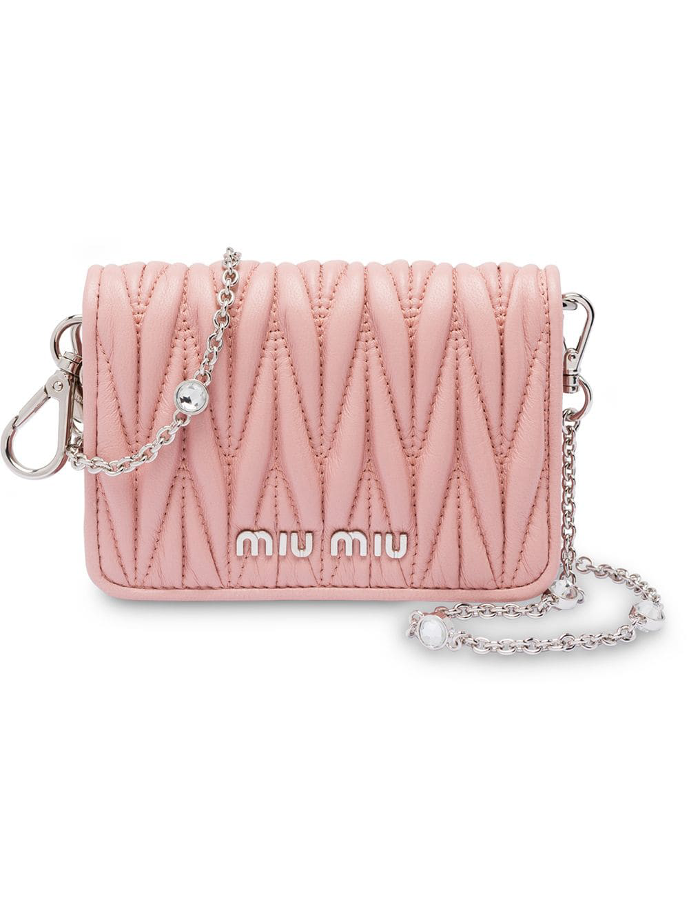 d522e0c70ca Miu Miu Matelassé Mini Shoulder Bag - Pink