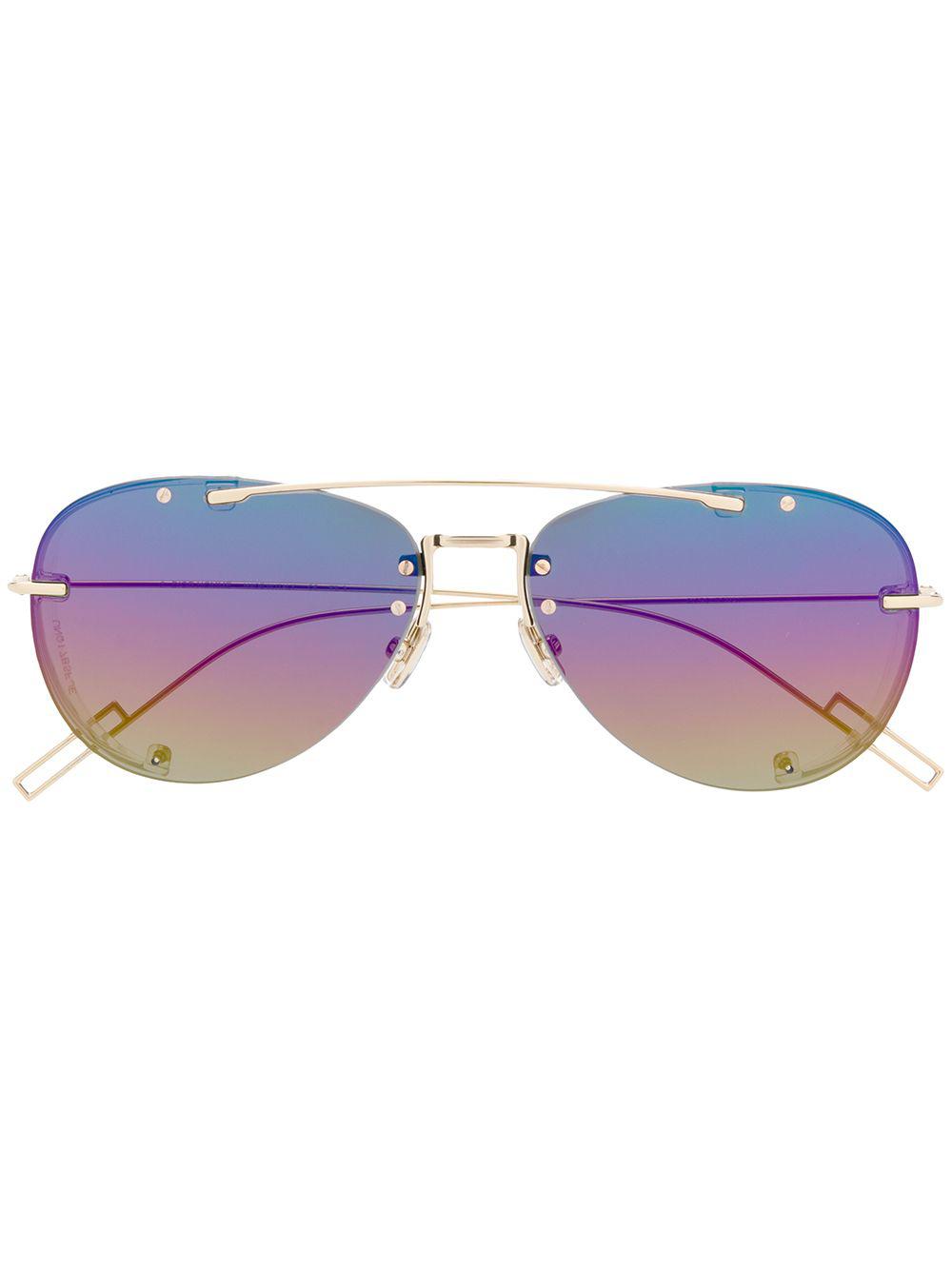 6cf012af899f Dior Eyewear Chroma1 Sunglasses - Metallic   ModeSens