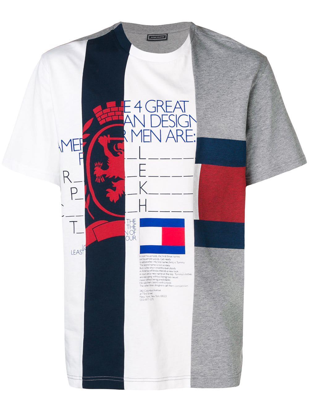 4333d9a7e1 Tommy Hilfiger Patchwork Stripe T-Shirt - White | ModeSens