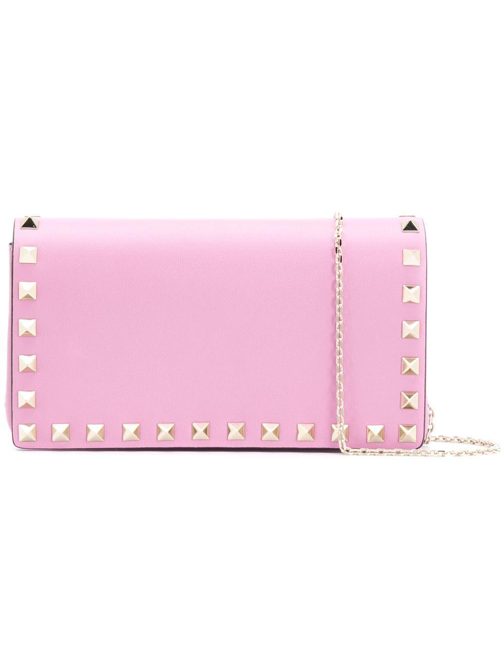 4300701784f Valentino Garavani Rockstud Clutch - Pink   ModeSens