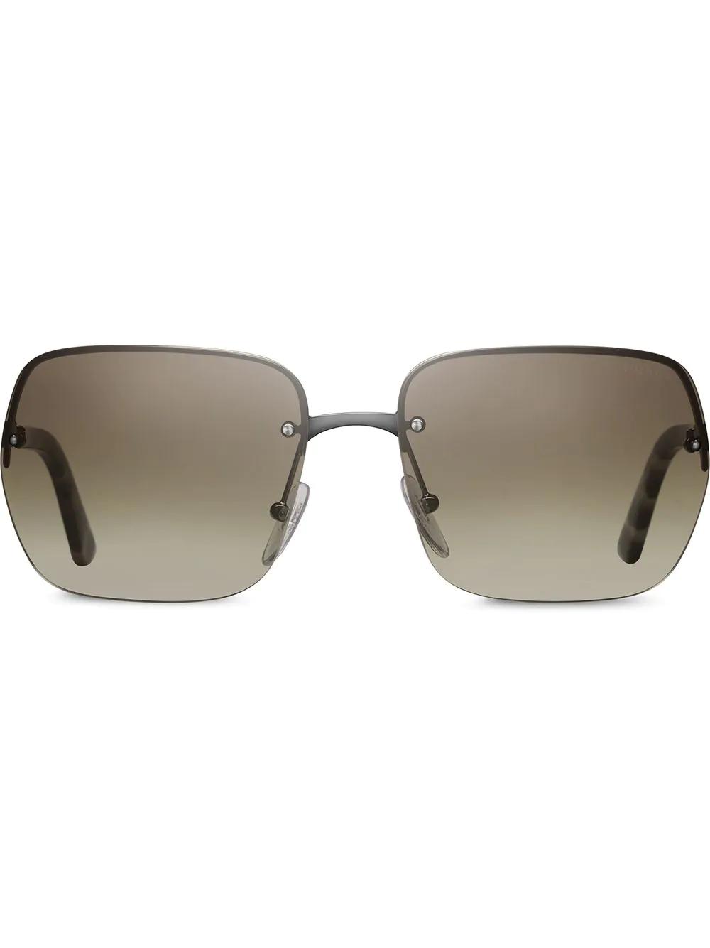 d14d321f7990a Prada Eyewear Square Frame Sunglasses - Neutrals