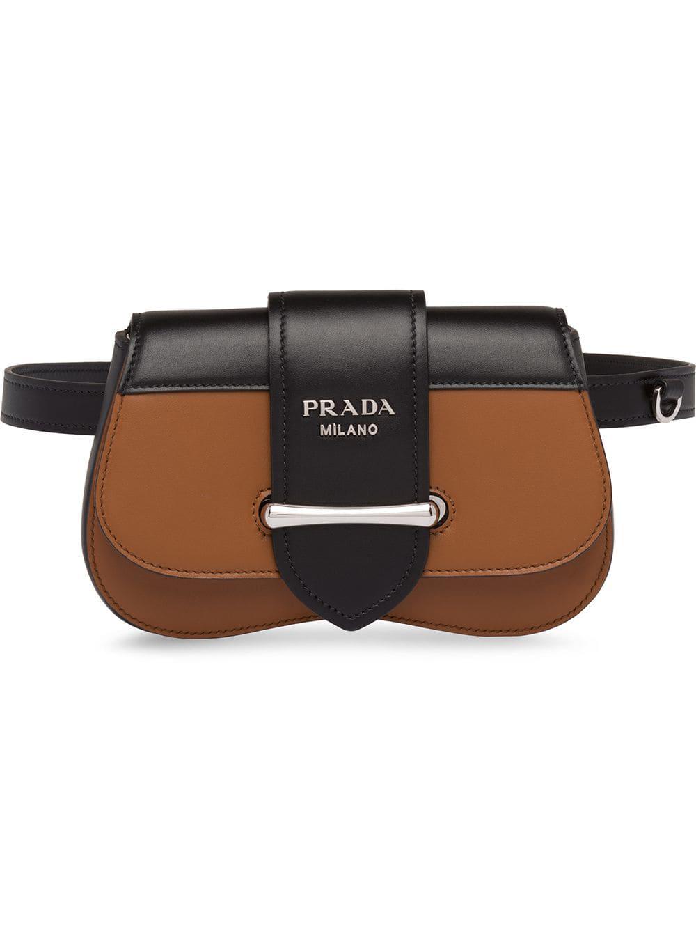 5bdf74c49bf94 Prada Sidonie Leather Belt-Bag - Brown