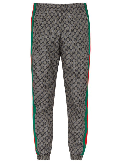4e430a10 Gucci Technical Gg Track Pants In Beige In Grey | ModeSens