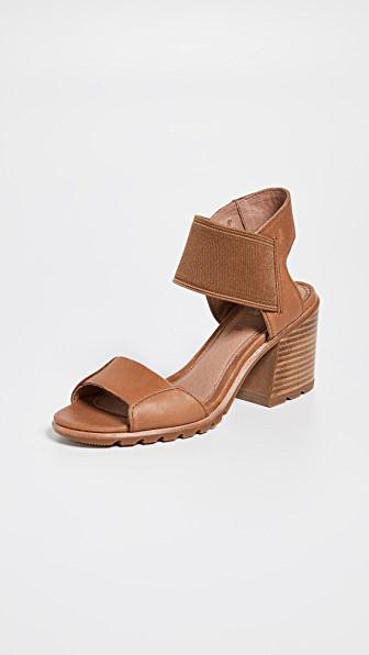 98158e4d94c Sorel Women. SOREL. Women's Nadia Block-Heel Sandals in Camel Brown