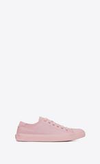 Saint Laurent Bedford Leather Sneakers In Pastel Pink