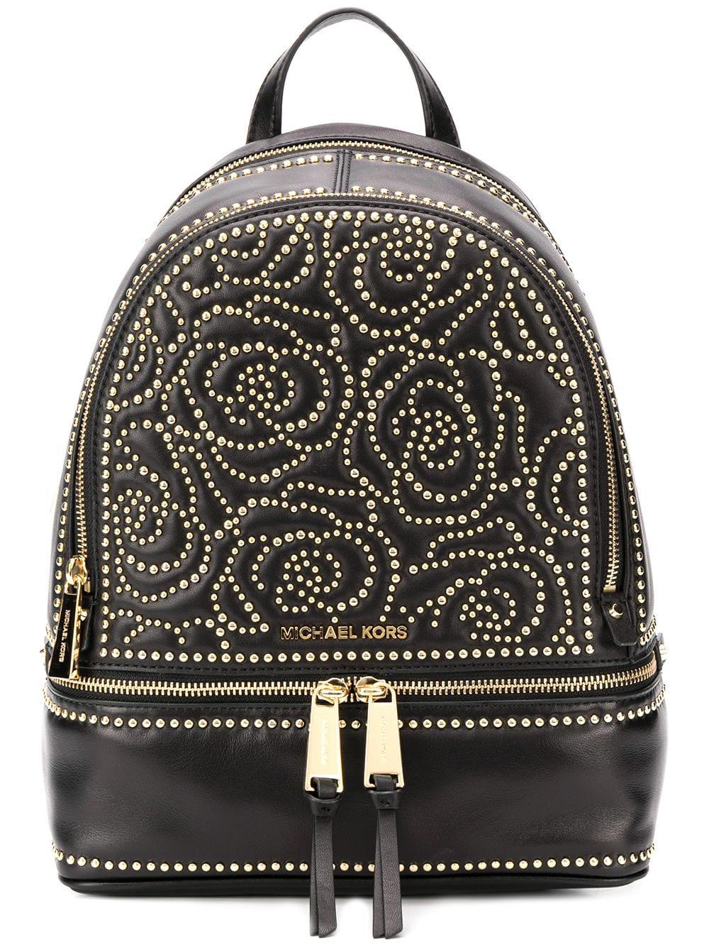 930c31ab66fdff Michael Kors Floral Studded Backpack - Black   ModeSens