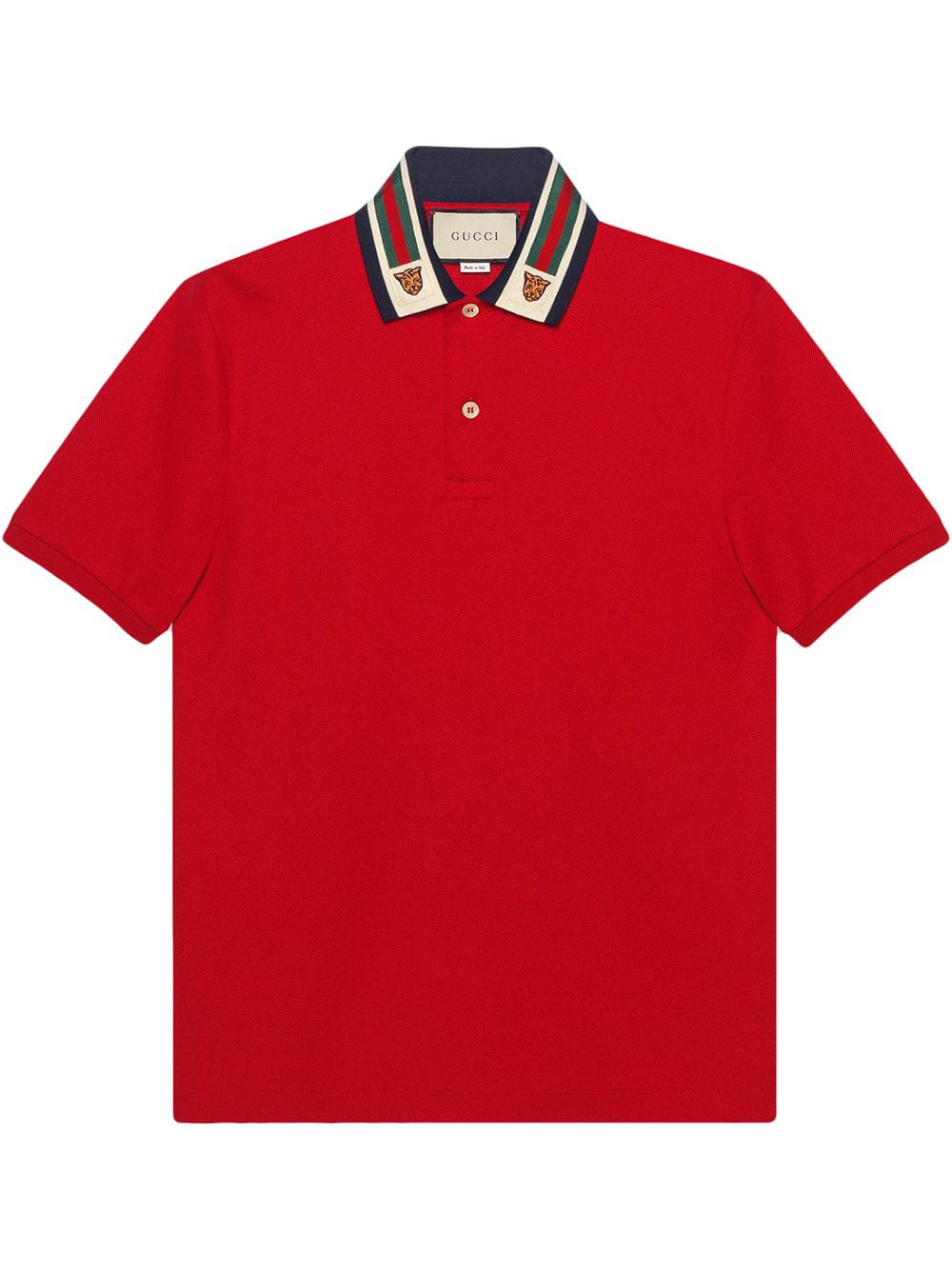 4a5568f97ce Gucci Web Polo Shirt In Red
