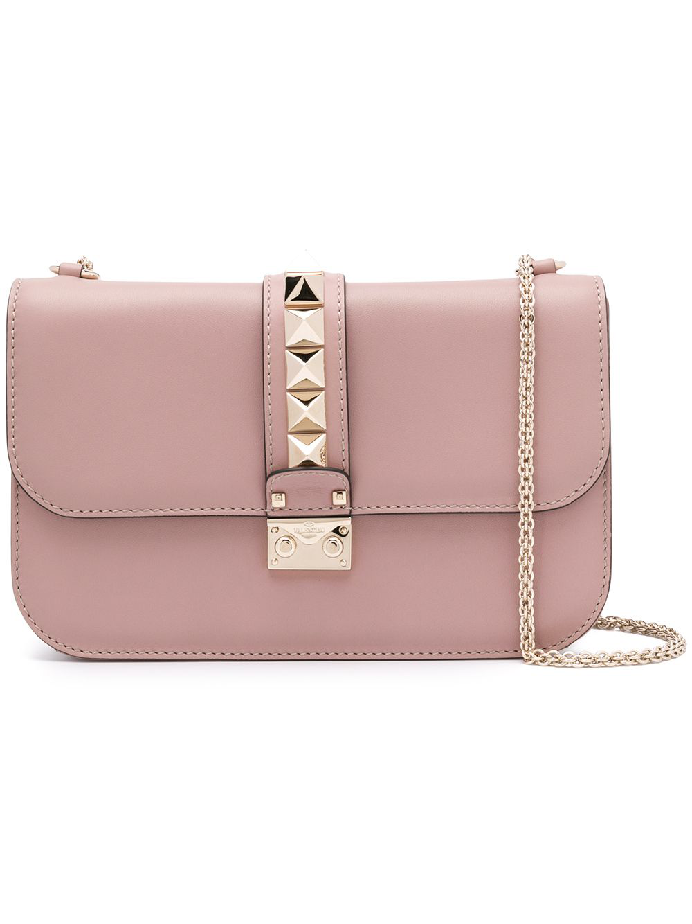 f235c6d2cb9 Valentino Glam Lock Shoulder Bag Medium - Farfetch In Neutrals ...
