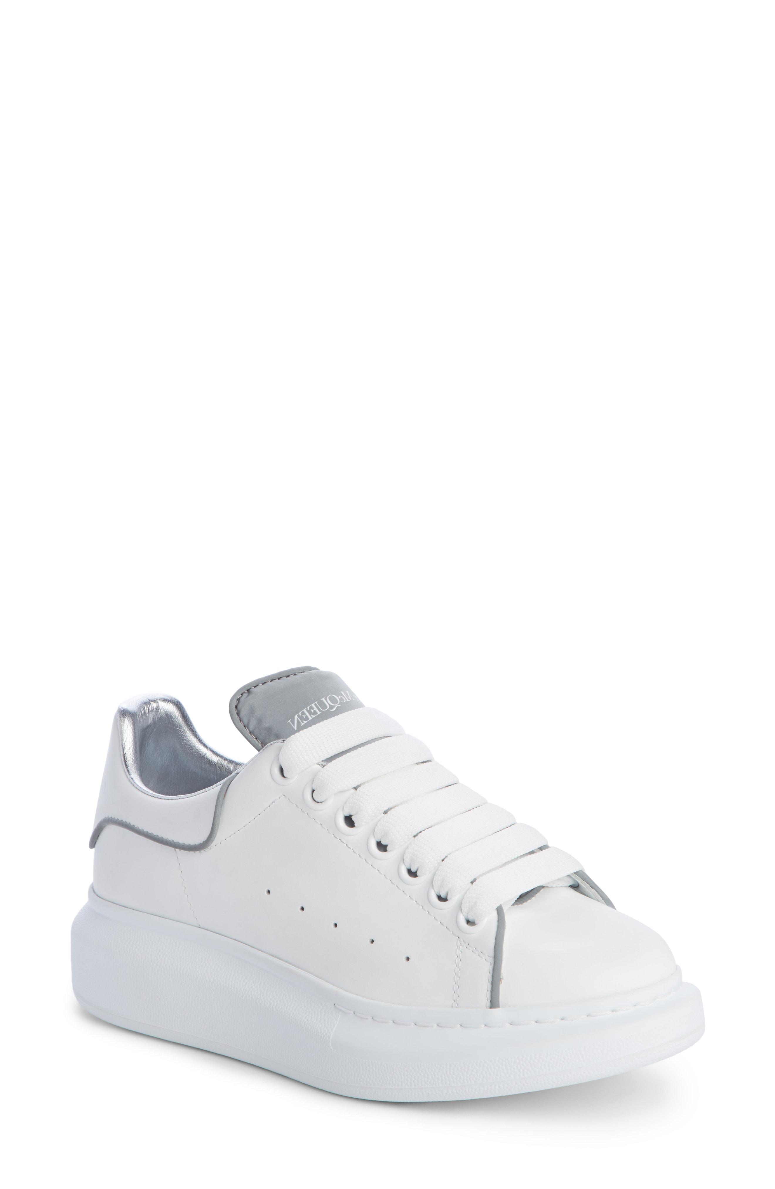 57eaa78f9b21 Alexander Mcqueen Sneaker In White  Silver Piping