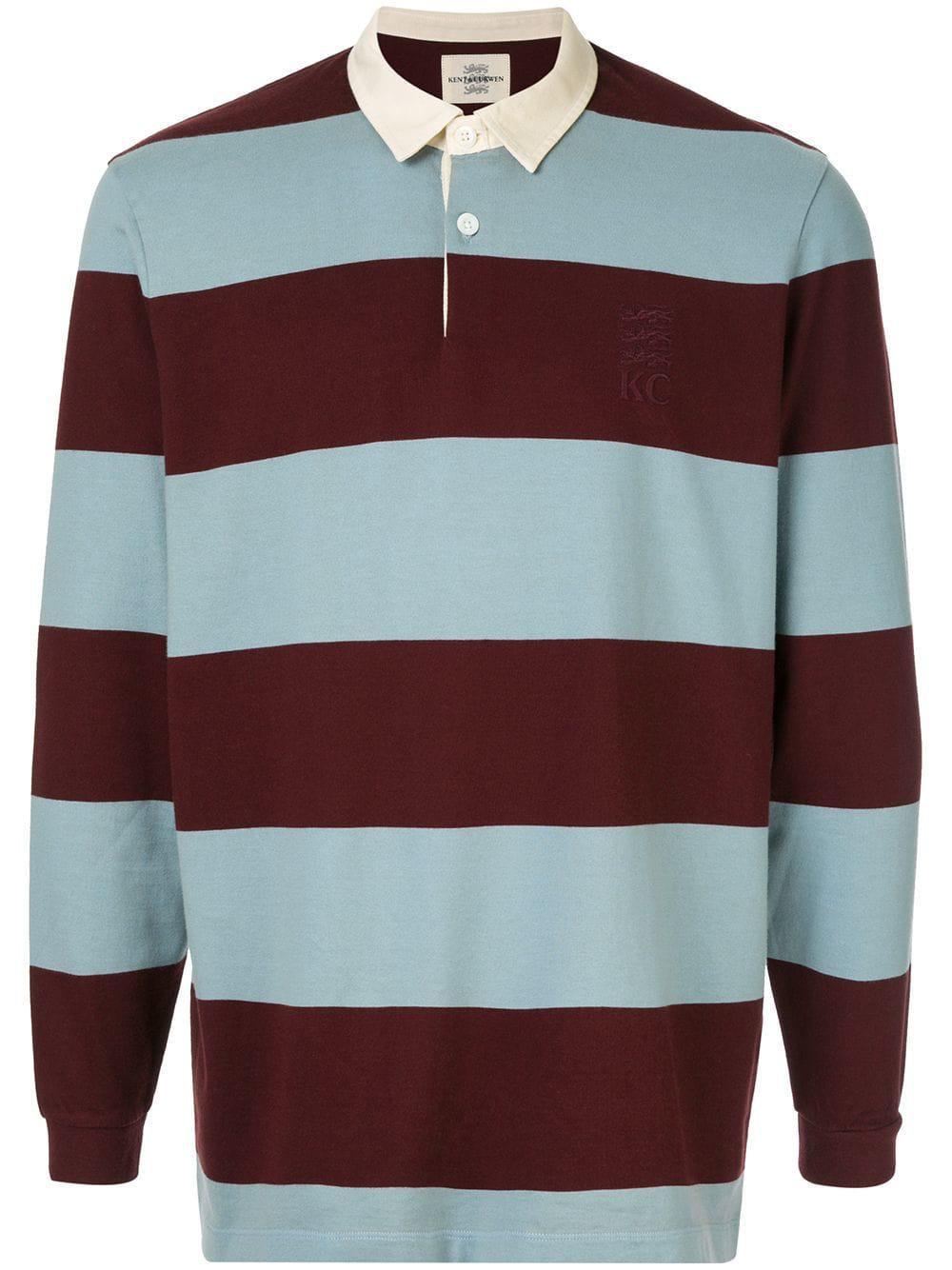 3b2857637 Kent & Curwen Miller Striped Polo Shirt - Blue | ModeSens