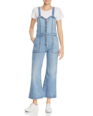 4be4ed2f88 7 For All Mankind Bustier-Style Denim Jumpsuit In Whitney