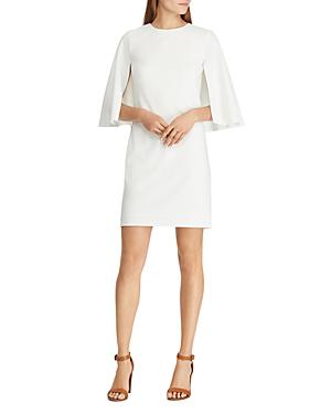 e247fe6449f Ralph Lauren Lauren Cape Overlay Dress In Chic Cream