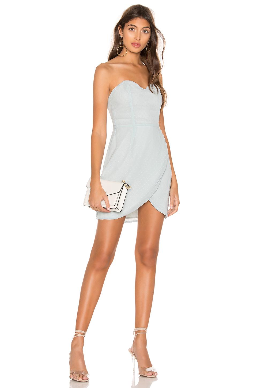 577c62444ed2 Superdown Alice Sweetheart Mini Dress In Mint. In Dusty Blue | ModeSens