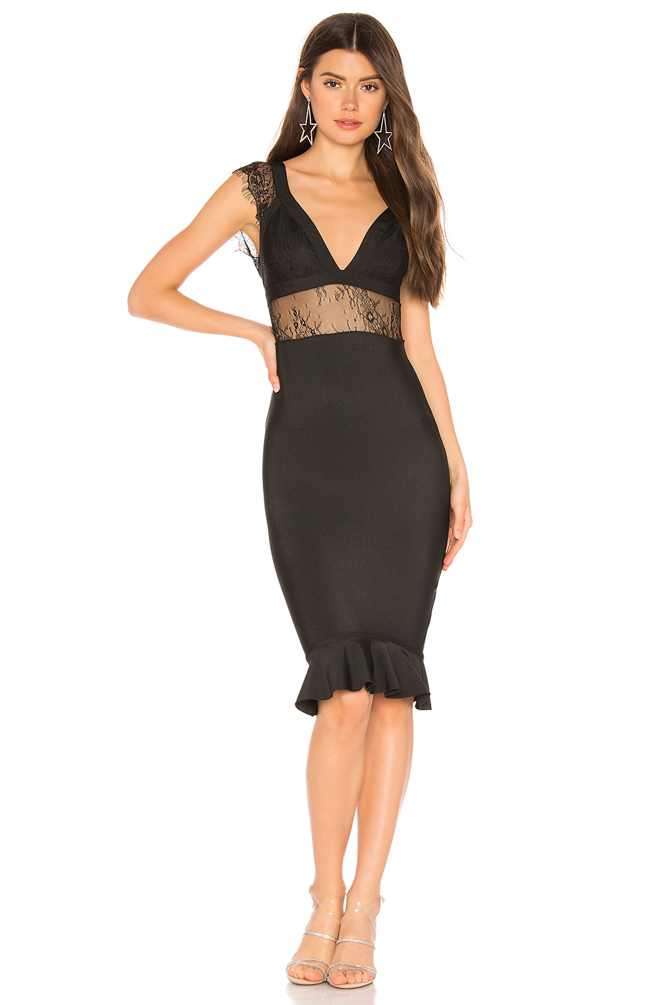 ecf67cb613d7 Superdown Adeliaide Lace Dress In Black. REVOLVE