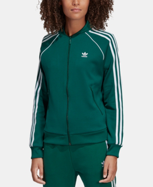 sneakers for cheap db394 19db9 Adidas Originals Adicolor Three Stripe Track Jacket In Green - Green