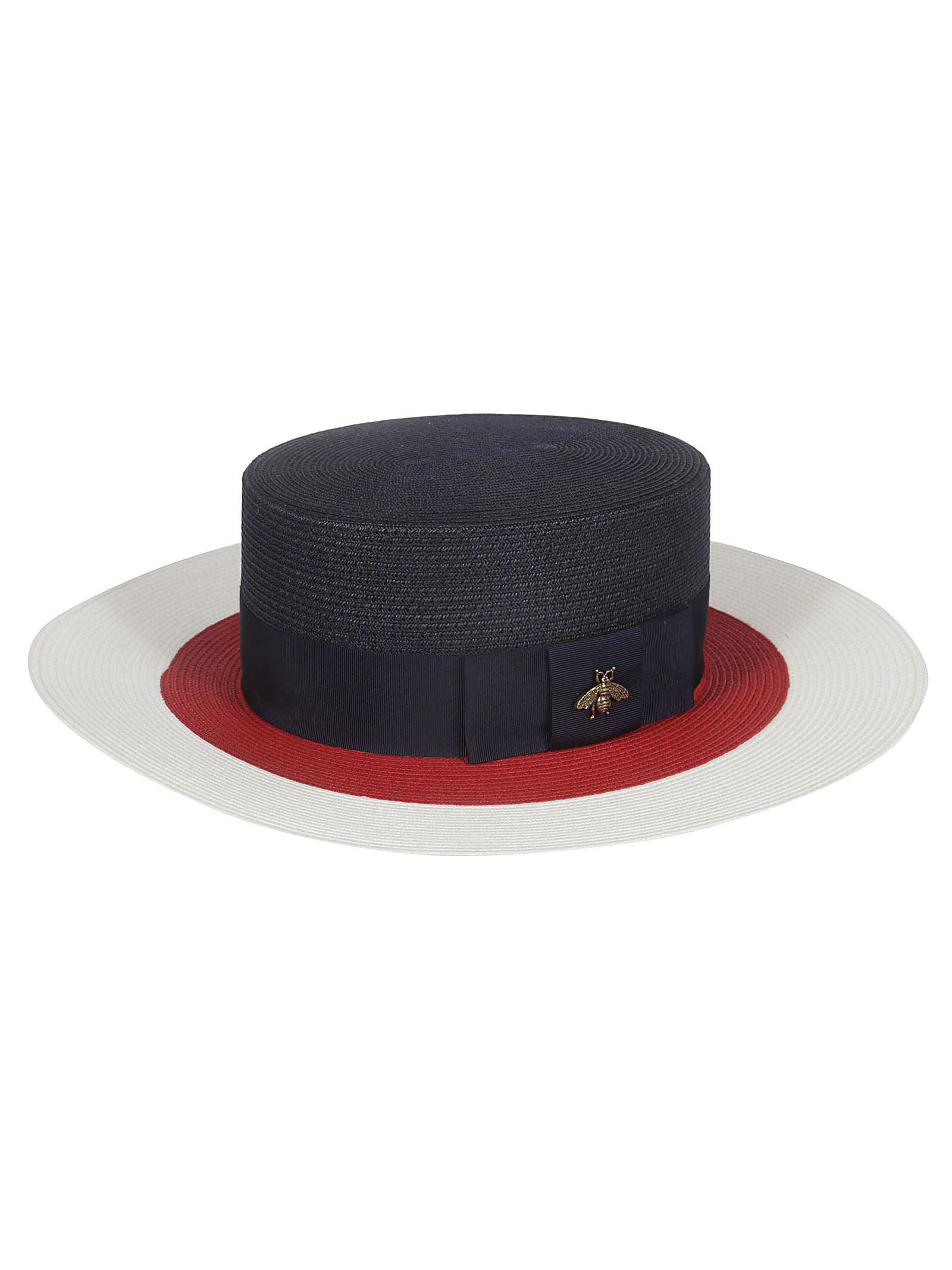Gucci Papier Wide Brim Hat In Blue  91bdcaf47ffa