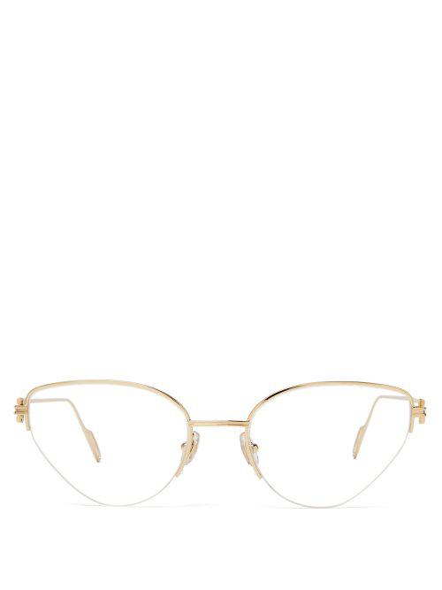 fd843f11f87fc Cartier PremièRe De Cat-Eye Metal Glasses In Gold