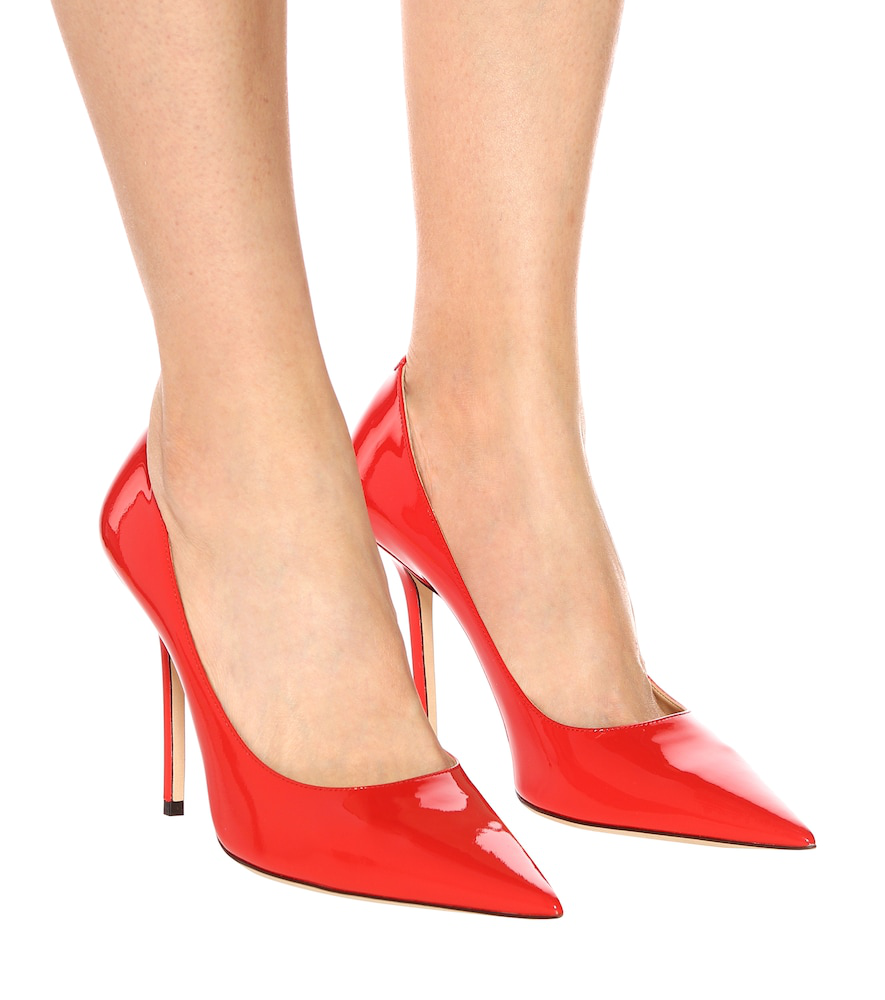 b5c506c7833 Love 100 Chilli Patent Leather Pointy Toe Pumps in Red