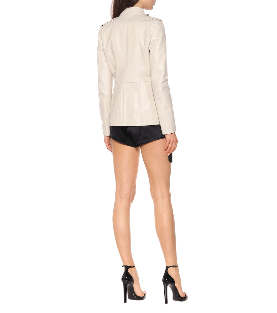 3dbc1a337b Safari Jacket In Vintage Crinkled Leather With Officer Buttons in Neutrals
