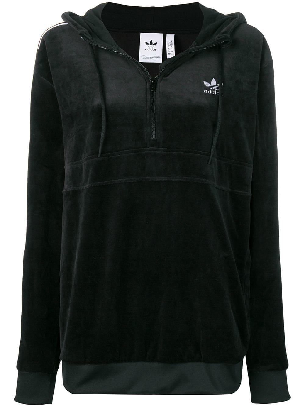 Adidas 'Cozy' Kapuzenpullover Schwarz in Black