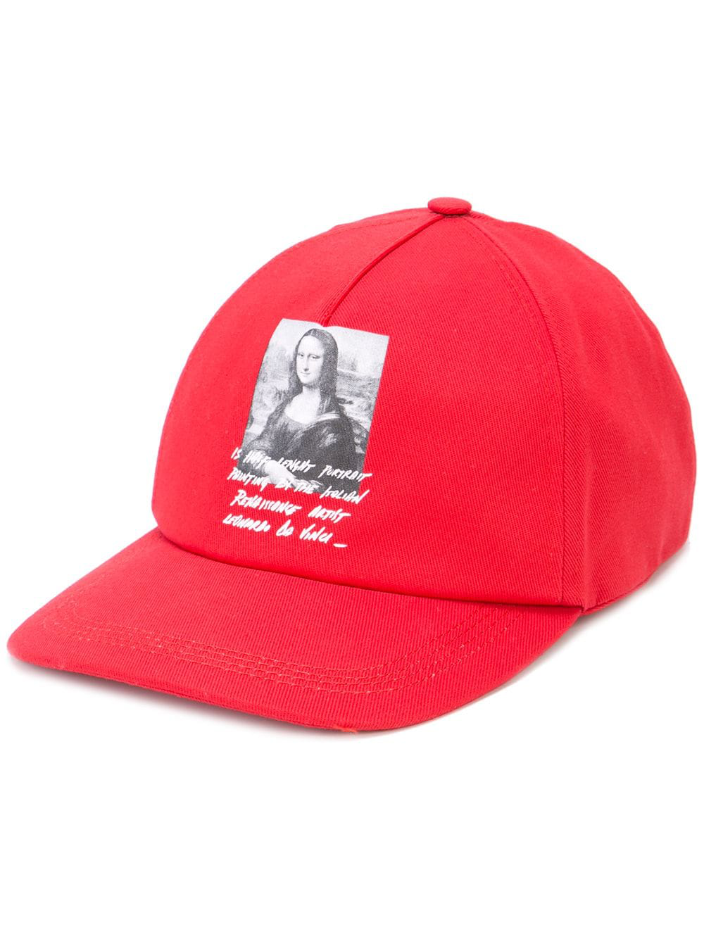 67057f6bb9b Off-White Mona Lisa Printed Cap - Farfetch In Red   ModeSens