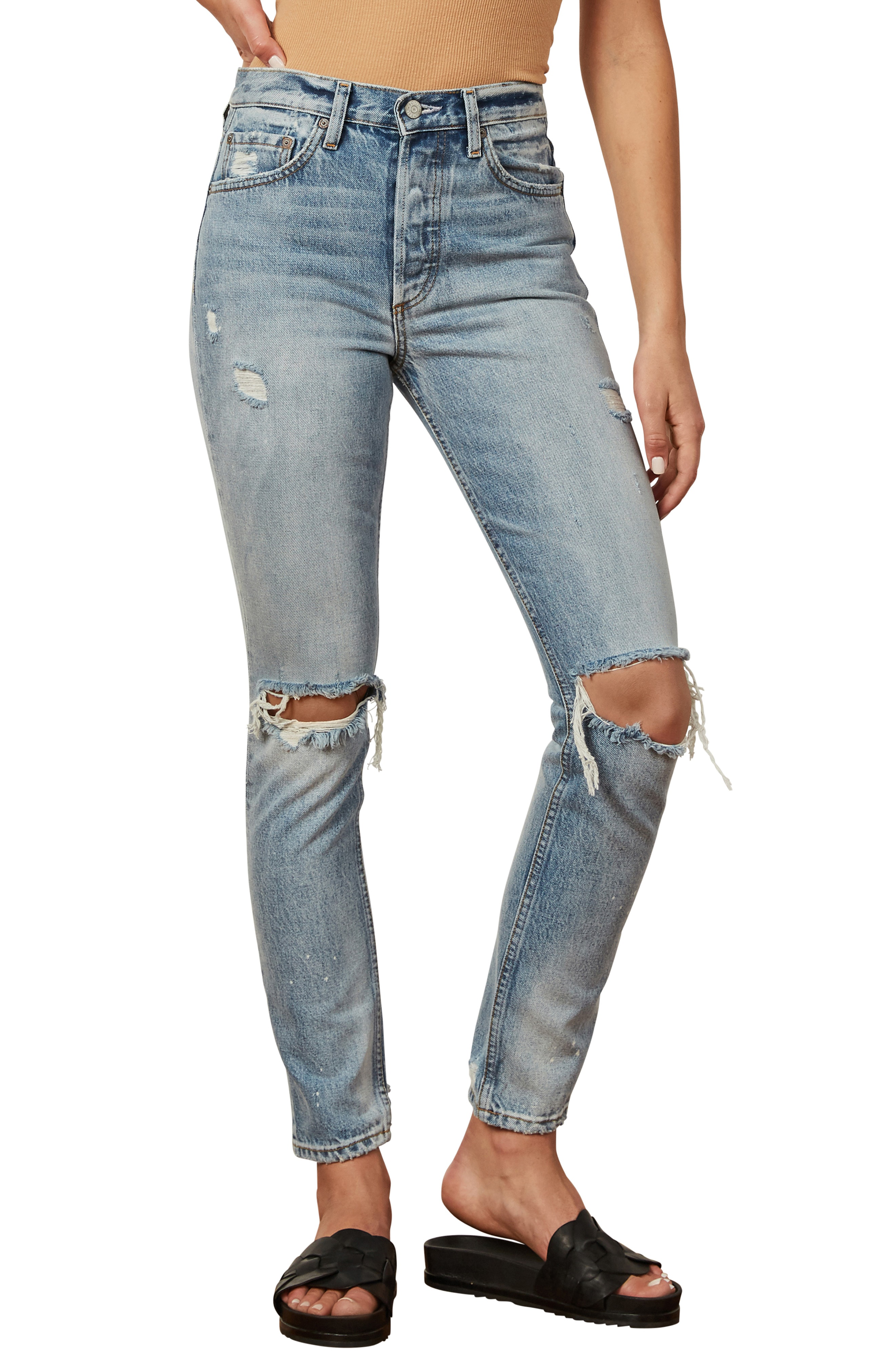3f83802c52ae Boyish Jeans The Billy Ripped High Waist Ankle Skinny Jeans In Easy Rider