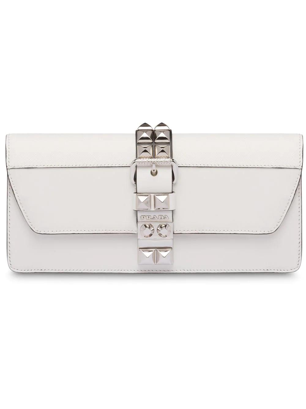 5a85734387ec Prada Elektra Clutch Bag - White | ModeSens