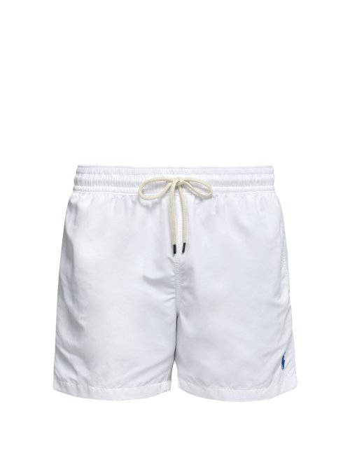 696bdb6cf Polo Ralph Lauren - Logo Embroidered Swim Shorts - Mens - White