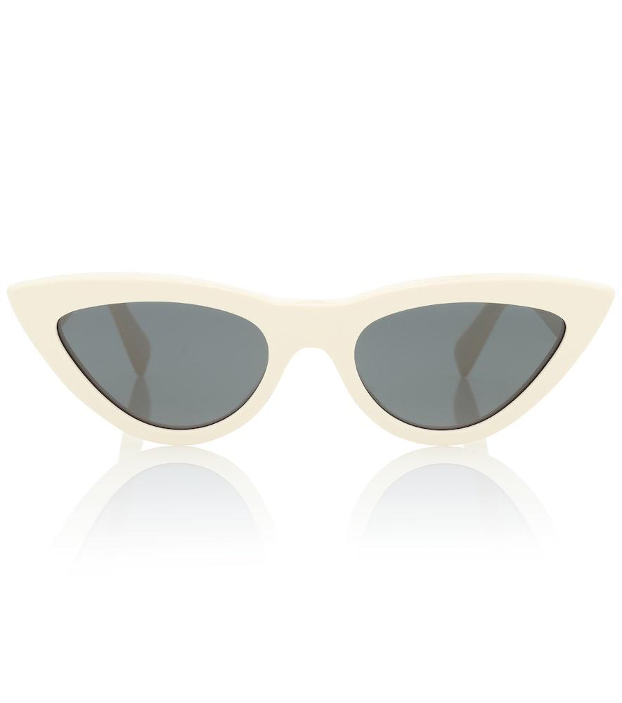db6bc80d97ef Celine Cat-Eye Acetate Sunglasses In White