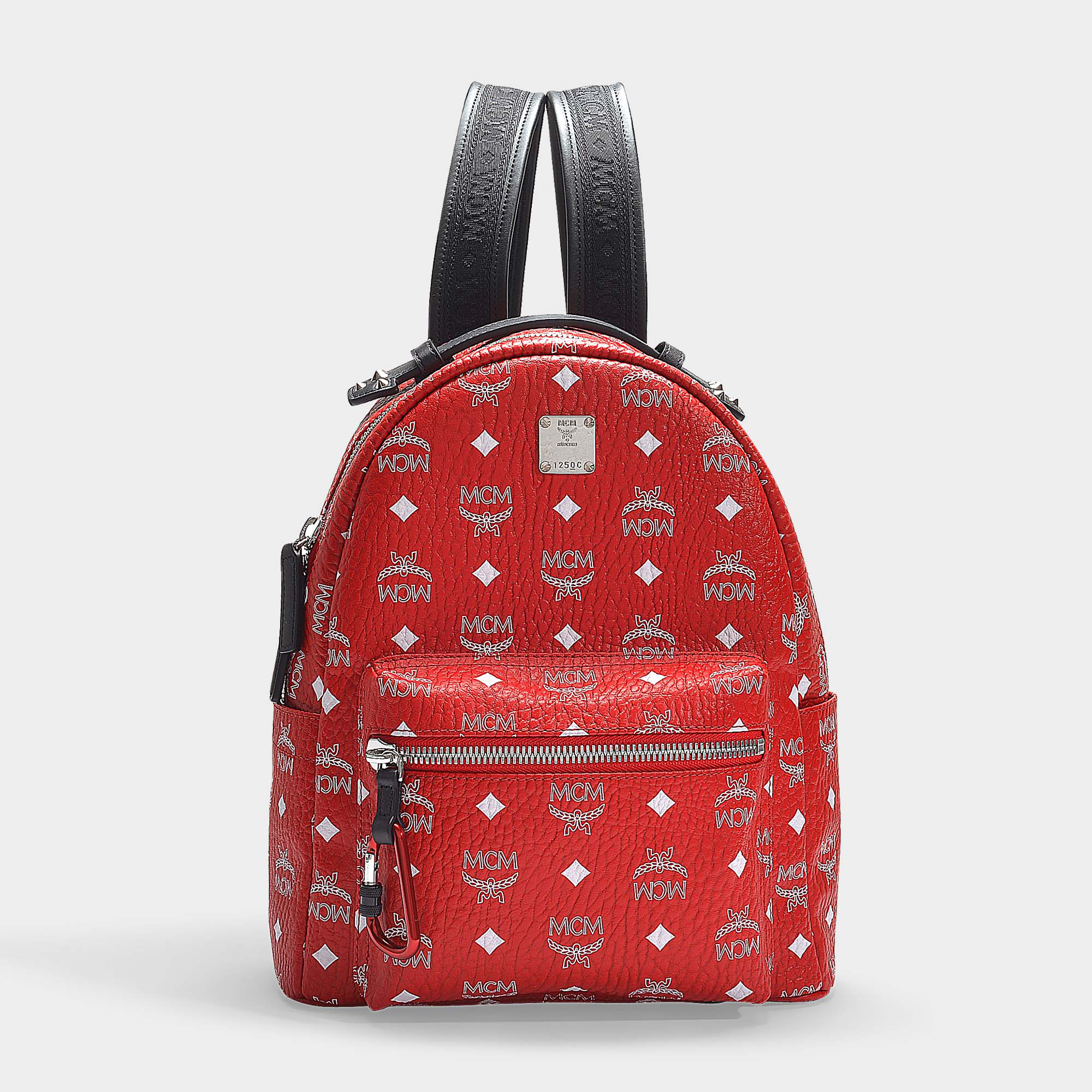 ab5719b5a Mcm | Stark White Logo Visetos Backpack 32 In Red Coated Canvas ...