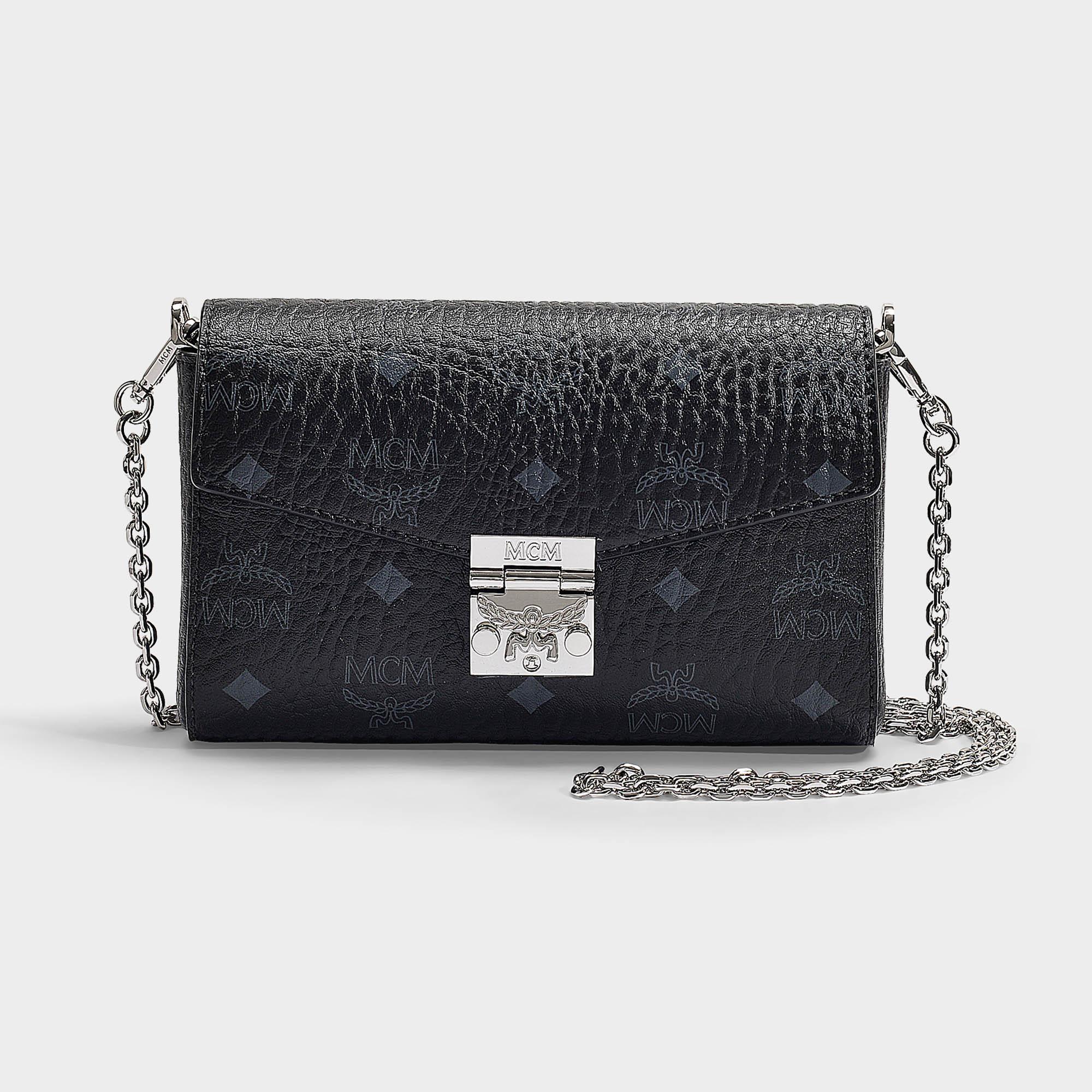 780a5397af28 Mcm | Millie Visetos Small Crossbody Bag In Black Coated Canvas ...