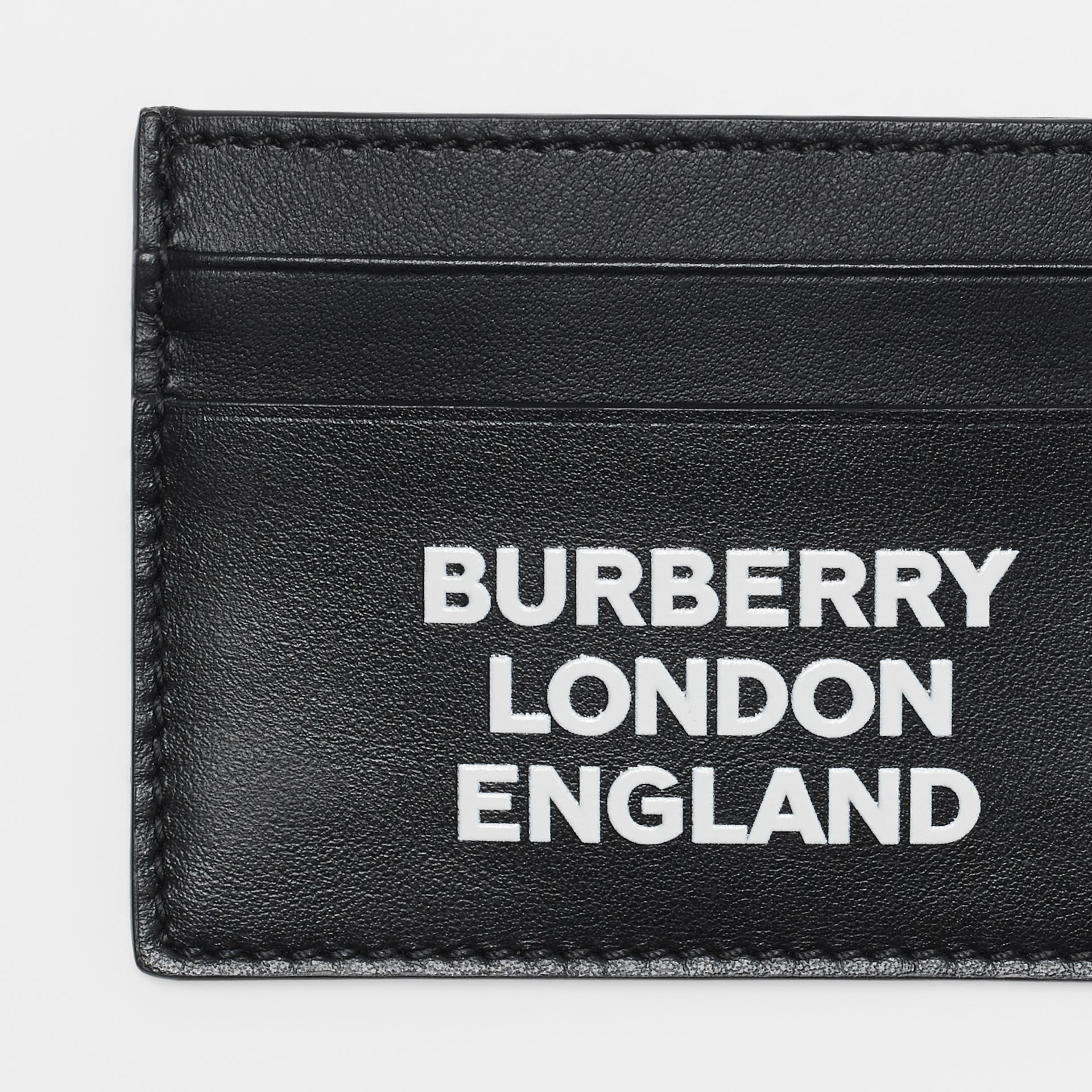 Burberry Men's Sandon Logo-Typographic Card Case In Black