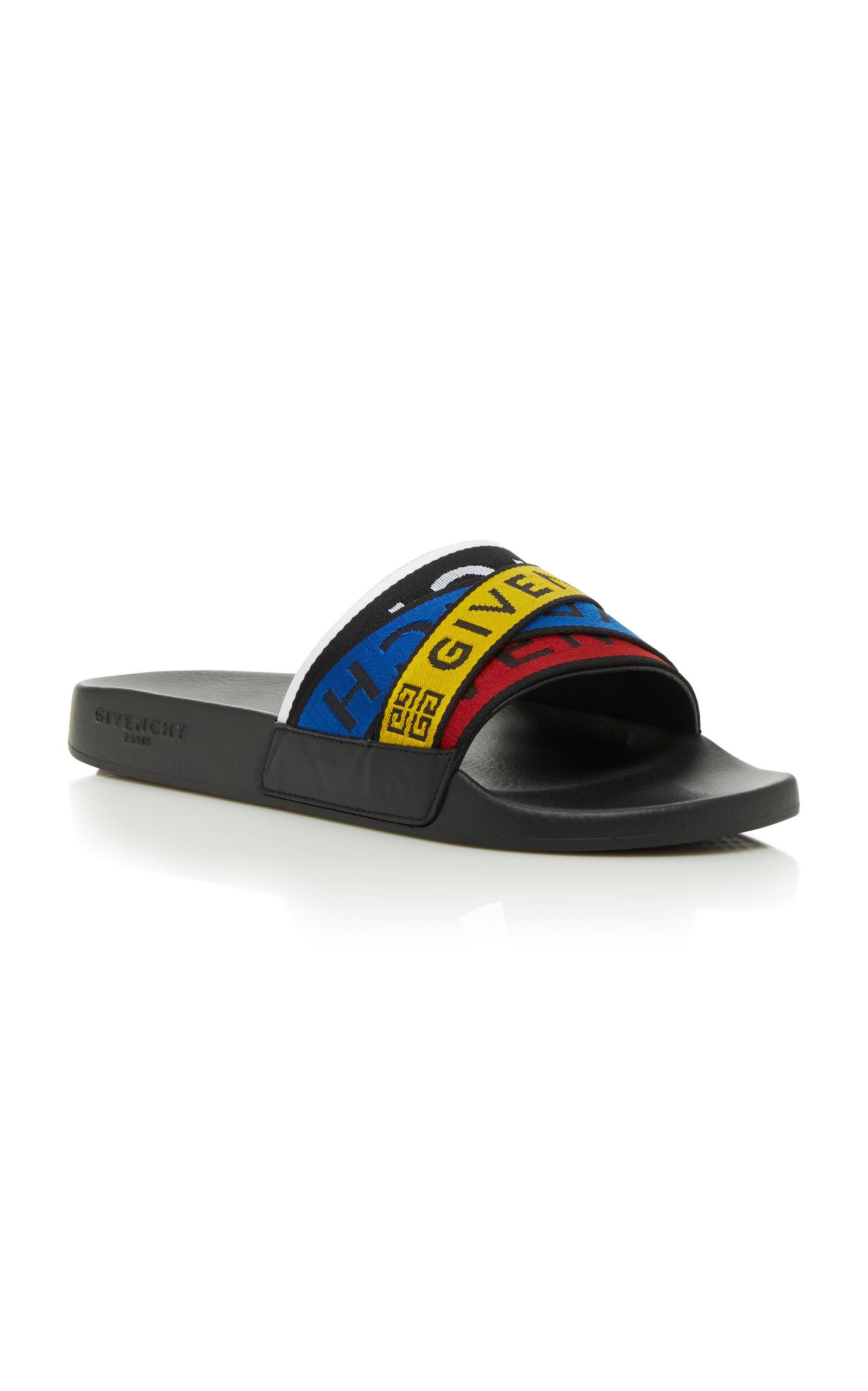 GIVENCHY Logo Slide Flat Sandal,671789