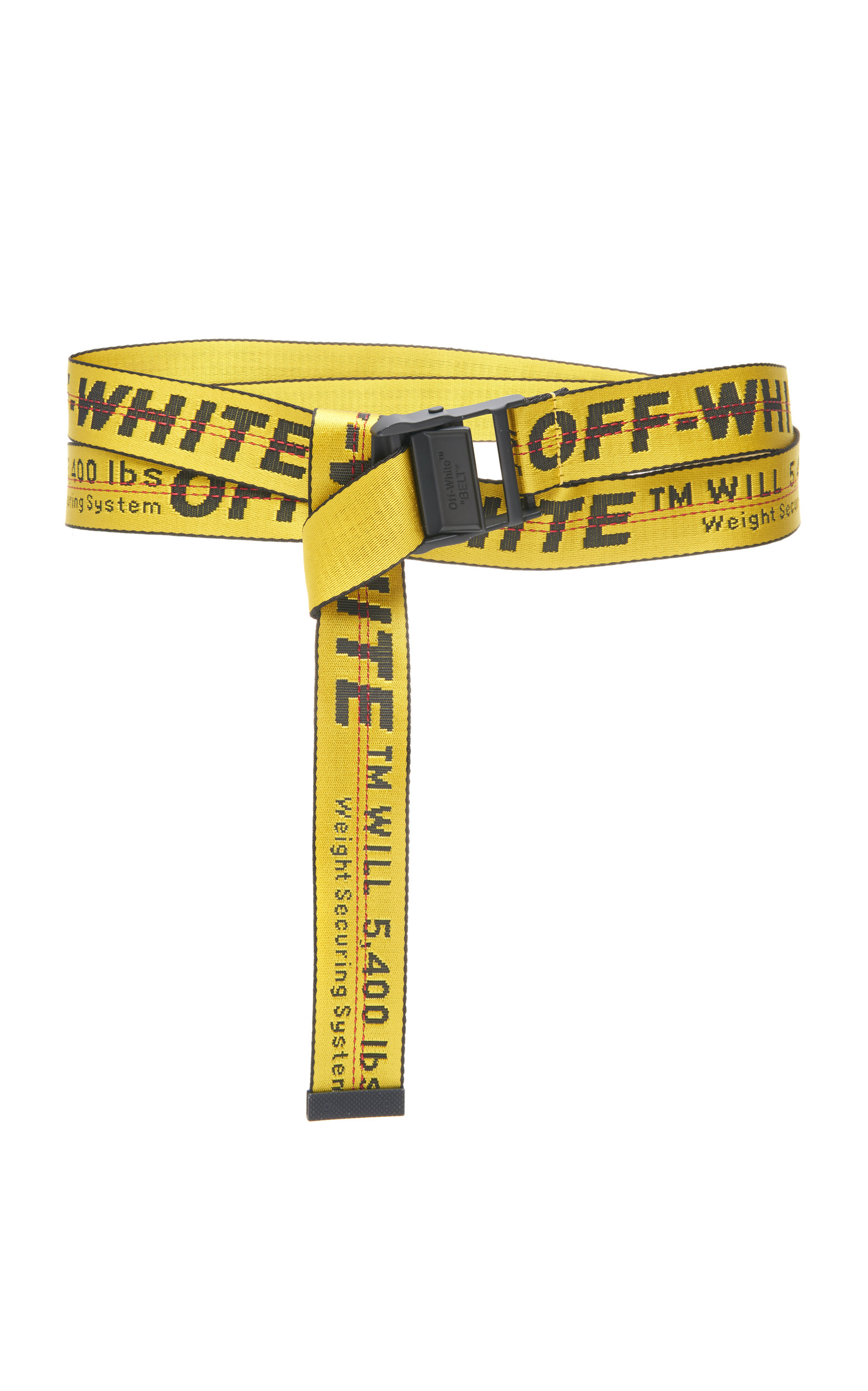 Off-white Classic Industrial Belt In Yellow/black | ModeSens