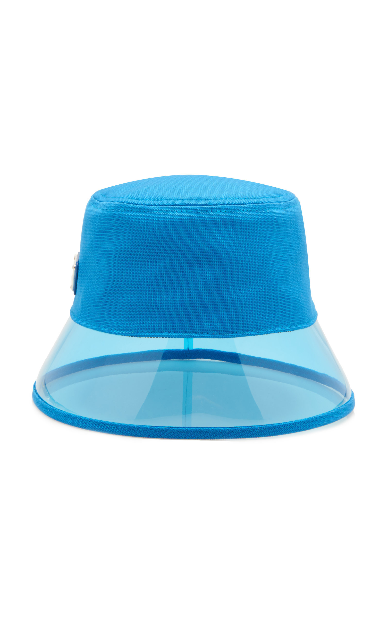 72d0a29ba07 Prada Pvc And Shell Bucket Hat In Blue