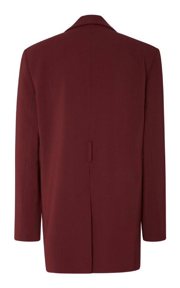 1dd31728f6ed Tibi Burgundy Oversized Tuxedo Blazer With Removable Belt In Purple ...