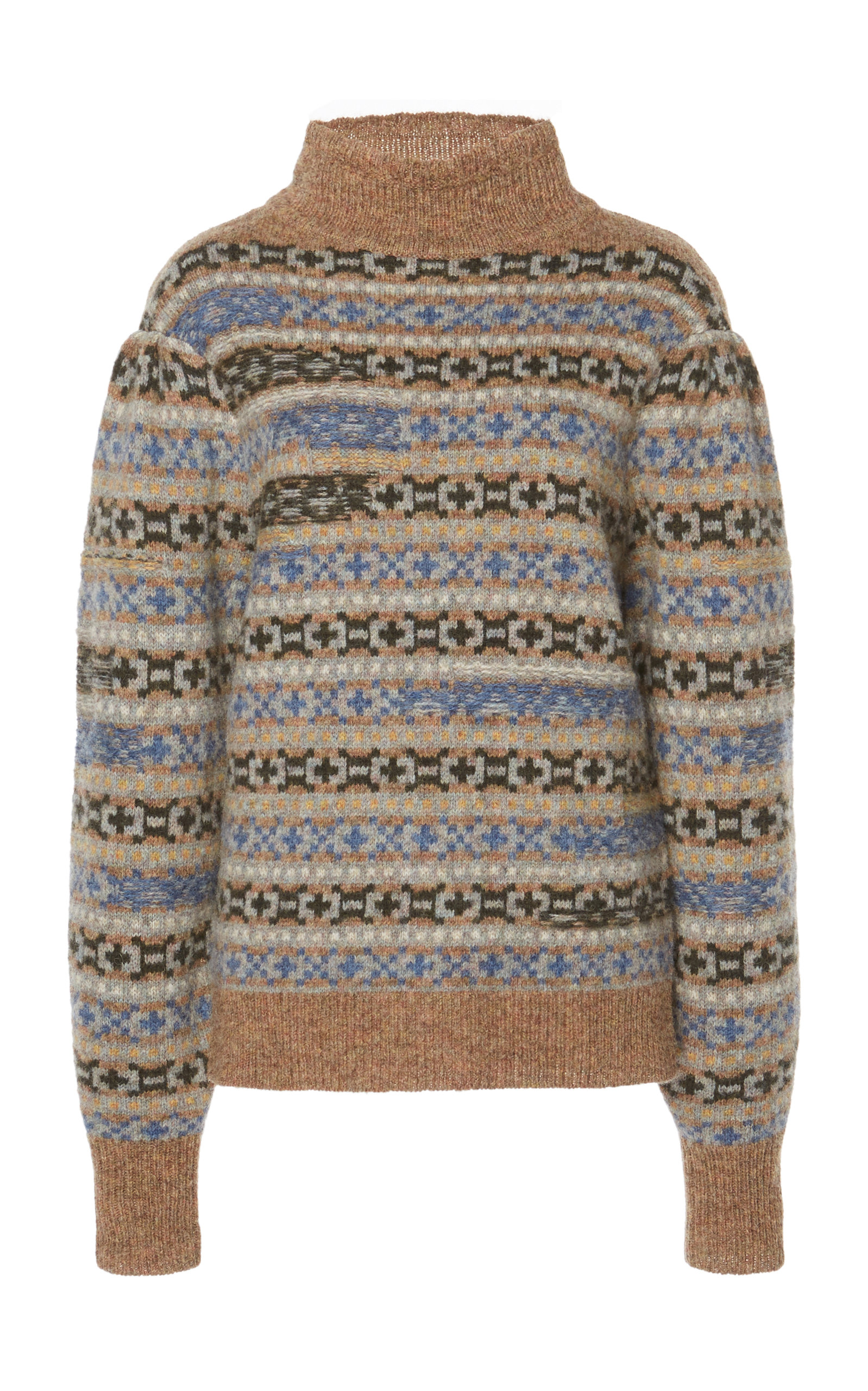 Isabel Marant Etoile Multicolor Knit Ned Fair isle Sweater In Neutrals