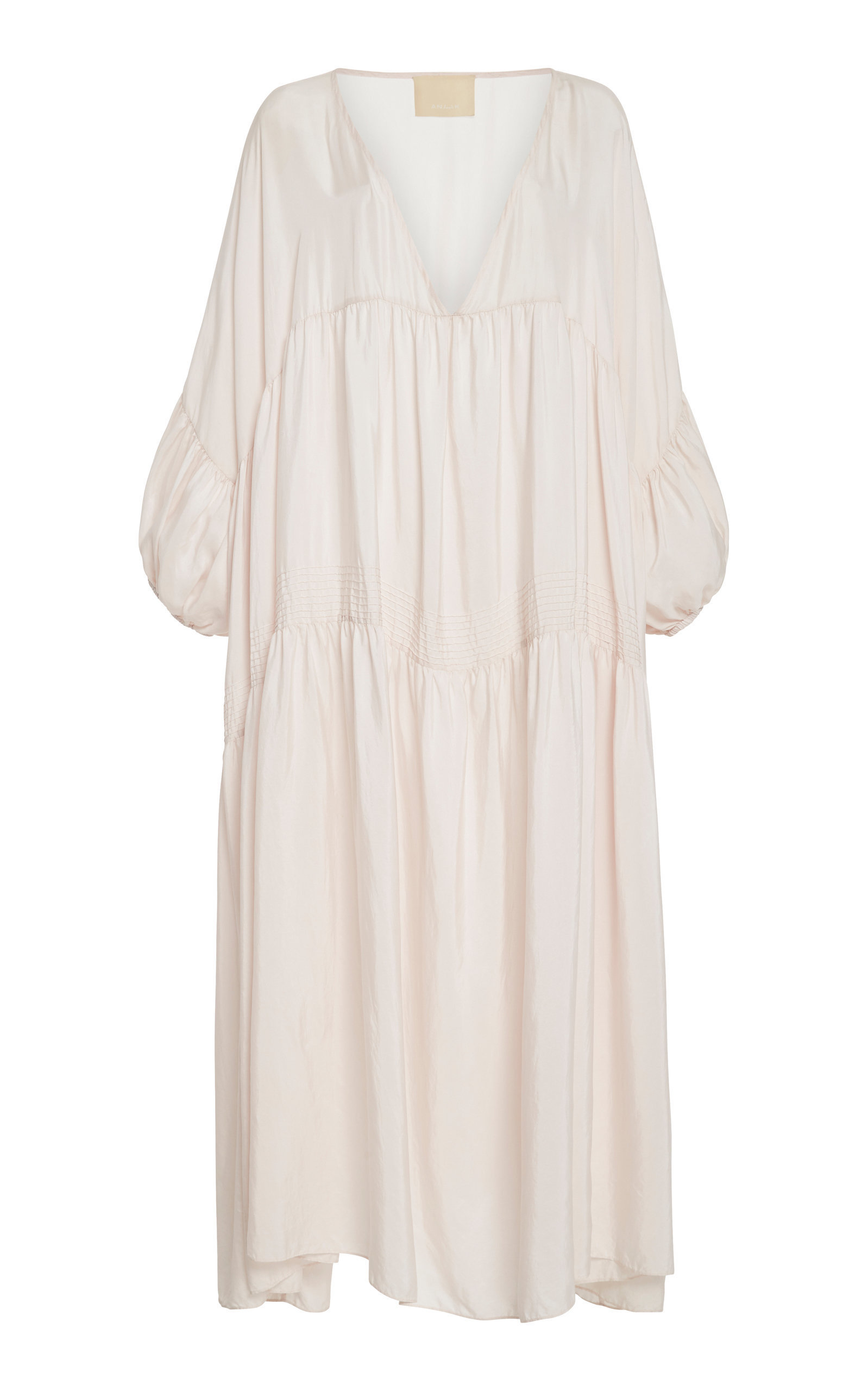 13e4a2f4115c35 Anaak Airi Pleated Silk-Georgette Midi Dress In Pink