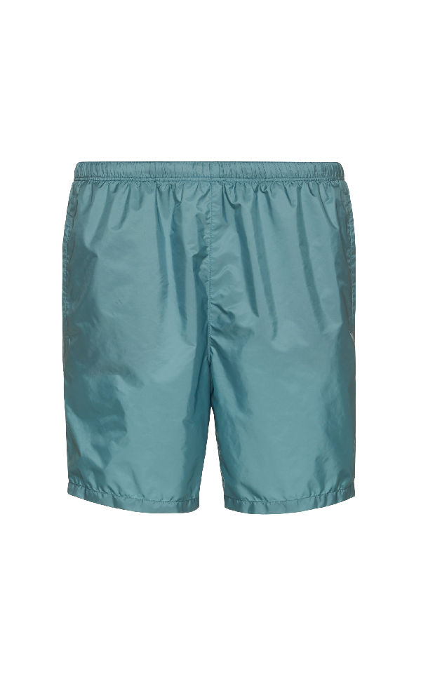 2188d4cb3deba Prada Shell Swim Trunks In Green | ModeSens