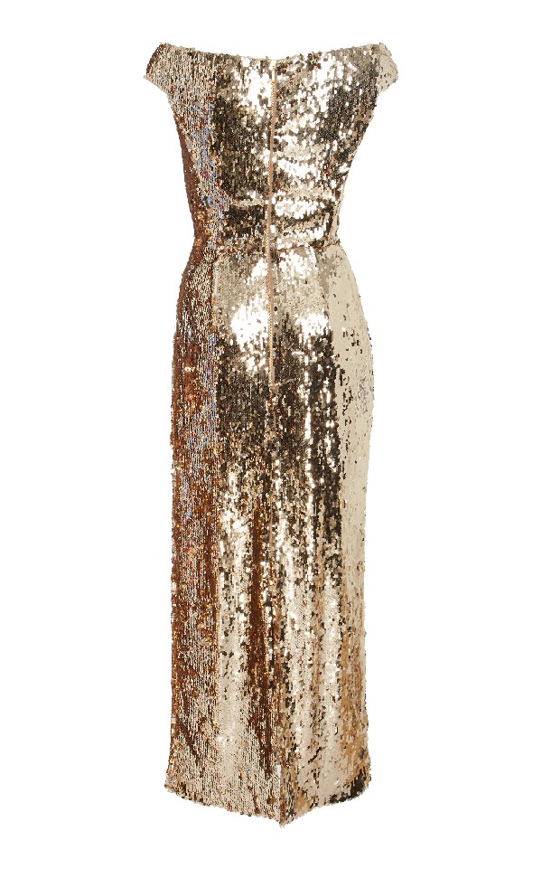 5c3cc589 Saloni Exclusive Therese Off-The-Shoulder Sequin Midi Dress In Metallic