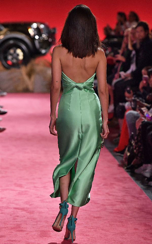 aa0f3a084b7 Brandon Maxwell Strapless Knotted-Back Satin Cocktail Dress In Green ...